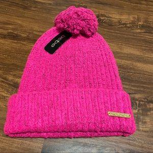 Bebe Neon Pink Beanie Hat